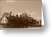Baraboo Greeting Cards - Engine 2645 Greeting Card by Charles Robinson