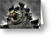 Day Greeting Cards - Engine 757 Greeting Card by Scott  Wyatt