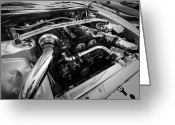 Race Car Photo Greeting Cards - Engine Bay Greeting Card by Eric Gendron