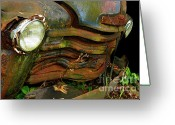 Antique Cars Greeting Cards - Engine Room 2 Greeting Card by Tom Griffithe