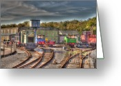 Sheds Greeting Cards - Engine Sheds Quainton Road Buckinghamshire Railway Greeting Card by Chris Thaxter