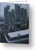 Photorealism Greeting Cards - Engine3 Greeting Card by Jeffrey Babine