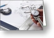 Hand Drawings Greeting Cards - Engineering Greeting Card by Tek Image