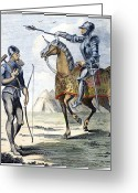 Archer Greeting Cards - England: Archer & Knight Greeting Card by Granger