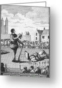 Heretic Greeting Cards - England: Beheading, 1554 Greeting Card by Granger