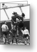 Soccer Stadium Greeting Cards - England: Soccer Game, 1970 Greeting Card by Granger