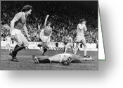 Soccer Stadium Greeting Cards - England: Soccer Game, 1977 Greeting Card by Granger