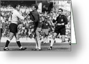 Referee Greeting Cards - England: Soccer Match, 1966 Greeting Card by Granger