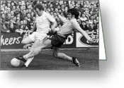 Athlete Greeting Cards - England: Soccer Match, 1972 Greeting Card by Granger