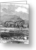 Cyclops Greeting Cards - England: Steel Works Greeting Card by Granger