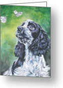 Cocker Spaniel Greeting Cards - English Cocker Spaniel  Greeting Card by Lee Ann Shepard
