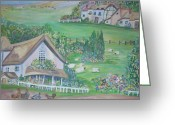 Teresa Dominici Greeting Cards - English countryside Greeting Card by Teresa Dominici