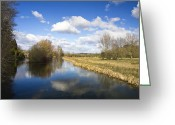 Green Water Greeting Cards - English countryside1 Greeting Card by Jane Rix