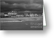 Ocean Front Greeting Cards - English Seaside Resort of Brighton Greeting Card by Heiko Koehrer-Wagner