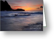 Tunnels Greeting Cards - Engulfed by the Sea Greeting Card by Mike  Dawson
