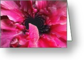 Pink Flower Prints Mixed Media Greeting Cards - Enhance Me With Flowers Greeting Card by Fania Simon