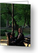 Sunbathing Trees Greeting Cards - Enjoying the Moment in Central Park II Greeting Card by Lee Dos Santos