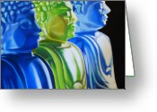 Buddha Pastels Greeting Cards - Enlightened Greeting Card by Melanie Cossey