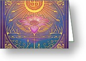 Buddhist Digital Art Greeting Cards - Enlightenment Greeting Card by Cristina McAllister