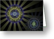 Unique Art. Greeting Cards - Enlightenment Greeting Card by David April