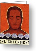 Tibetan Buddhism Greeting Cards - Enlightenment Greeting Card by Gloria Rothrock