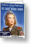 Warishellstore Greeting Cards - Enlist In A Proud Profession Greeting Card by War Is Hell Store