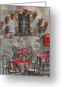 Brasserie Greeting Cards - Enot Eca Greeting Card by Debbie DeWitt