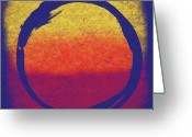 Gallery Print Greeting Cards - Enso 6 Greeting Card by Julie Niemela