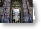 Byzantine Photo Greeting Cards - Enter Greeting Card by Joan Carroll
