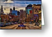 Urban Photo Greeting Cards - Entertainment Greeting Card by Chuck Alaimo
