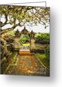 Compound Greeting Cards - Entrance  Greeting Card by Charuhas Images