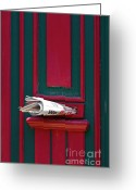 Entrance Door Greeting Cards - Entrance door and newspaper Greeting Card by Heiko Koehrer-Wagner