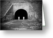 Outskirts Greeting Cards - Entrance of a tunnel Greeting Card by Fabrizio Troiani