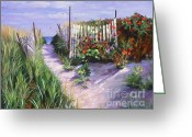 New England Seascape Greeting Cards - Entrance to Nantasket Greeting Card by Laura Lee Zanghetti