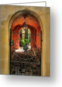 Entryway Greeting Cards - Entrance To Stucco Home Greeting Card by Steven Ainsworth