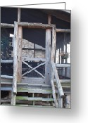 Log Cabin Photographs Greeting Cards - Entrance Way Greeting Card by Robert Margetts