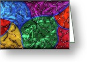 Textured Sculpture Greeting Cards - Entropy Greeting Card by Rick Roth