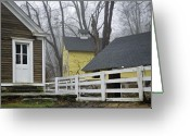 New England Digital Art Greeting Cards - Entry Greeting Card by Jack Goldberg