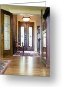 Wood Floors Greeting Cards - Entryway of Home Greeting Card by Andersen Ross