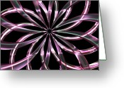 Fine_art Greeting Cards - Entwine Violot Greeting Card by Louis Ferreira