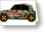 Asbjorn Lonvig Greeting Cards - Environmentalists Car - Virtual Car Greeting Card by Asbjorn Lonvig
