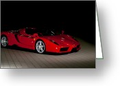 Enzo Ferrari Greeting Cards - Enzo Greeting Card by Andy Comber