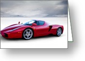 Enzo Ferrari Greeting Cards - Enzo Greeting Card by Douglas Pittman