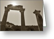Ancient Ruins Greeting Cards - Ephesus 2011 AD Greeting Card by Terence Davis