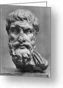 Artifact Greeting Cards - Epicurus (342?-270 B.c.) Greeting Card by Granger