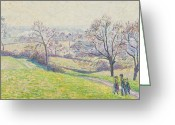 Pisarro Greeting Cards - Epping landscape Greeting Card by Camille Pissarro