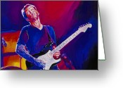 Hand Painting Greeting Cards - Eric Clapton - Crossroads Greeting Card by David Lloyd Glover