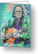 Blues Pastels Greeting Cards - Eric Clapton Greeting Card by Melanie D
