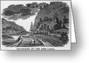 Erie Barge Canal Greeting Cards - Erie Canal, 1835 Greeting Card by Granger