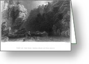 Erie Barge Canal Greeting Cards - Erie Canal View, 1838 Greeting Card by Granger